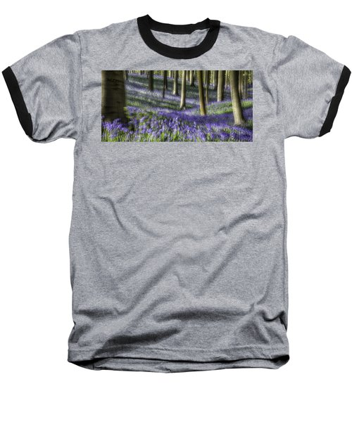 Bluebell Forest Color Explosion Baseball T-Shirt by Dirk Ercken