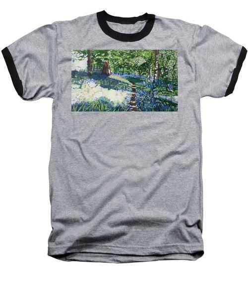 Bluebell Forest Baseball T-Shirt by Joanne Perkins