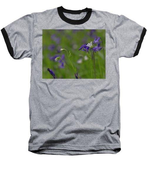 Bluebells And Stitchwort  Baseball T-Shirt
