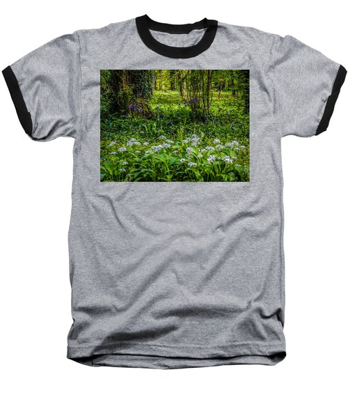 Bluebells And Wild Garlic At Coole Park Baseball T-Shirt
