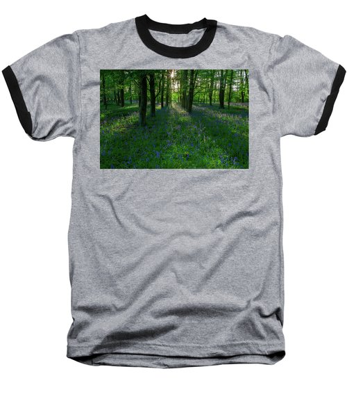 Bluebells In Oxey Woods Baseball T-Shirt