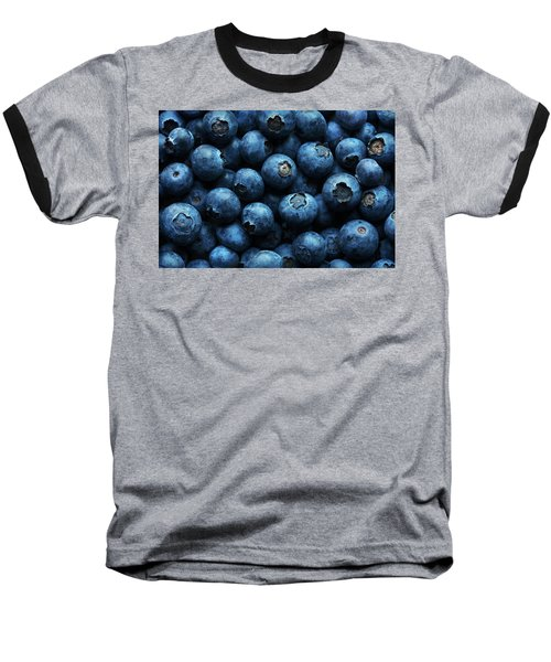 Blueberries Background Close-up Baseball T-Shirt