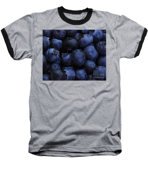 Blueberries Close-up - Horizontal Baseball T-Shirt
