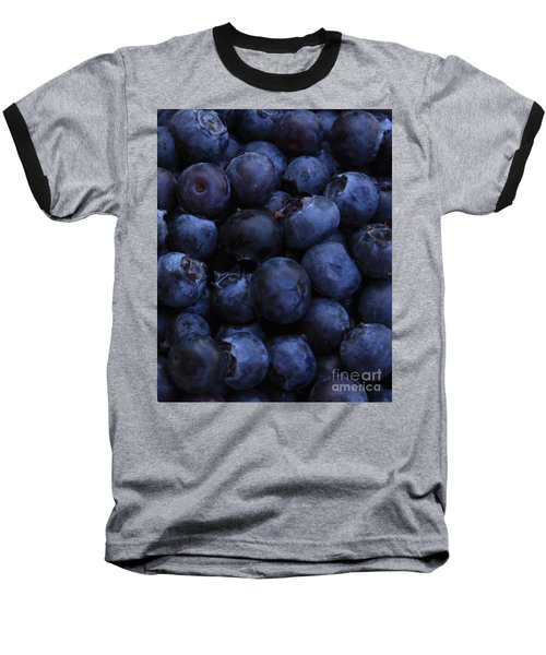 Blueberries Close-up - Vertical Baseball T-Shirt