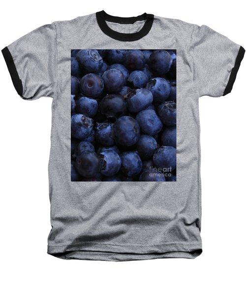 Blueberries Close-up - Vertical Baseball T-Shirt