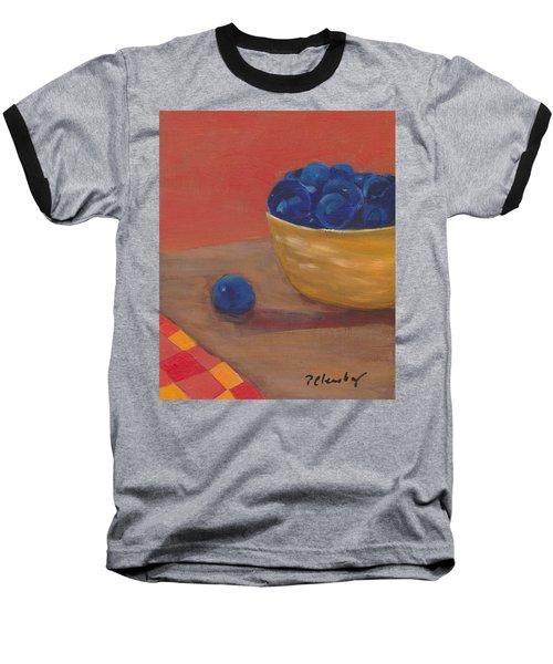 Blueberries Yellow Bowl Baseball T-Shirt