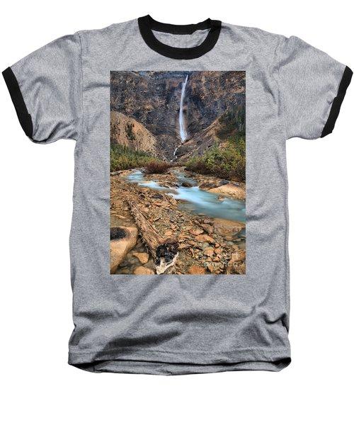 Baseball T-Shirt featuring the photograph Blueberry Blue Waters Under Takakkaw Falls by Adam Jewell