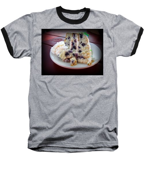 Blueberry Cake With Lemon Icing Baseball T-Shirt