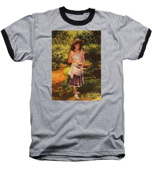Blueberry Girl Baseball T-Shirt by Elizabeth Carr