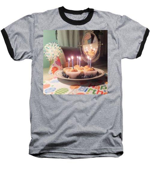 Blueberry Muffin Birthday Baseball T-Shirt
