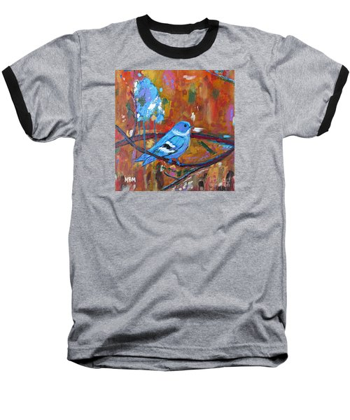 Bluebird In Autumn Baseball T-Shirt