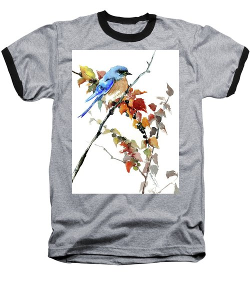 Bluebird In The Fall Baseball T-Shirt