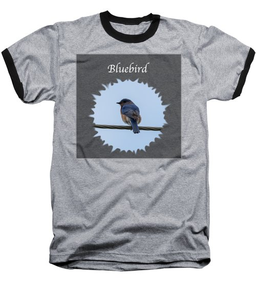 Bluebird Baseball T-Shirt by Jan M Holden