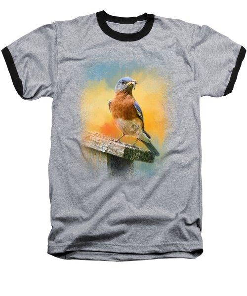 Bluebird Mealtime Baseball T-Shirt