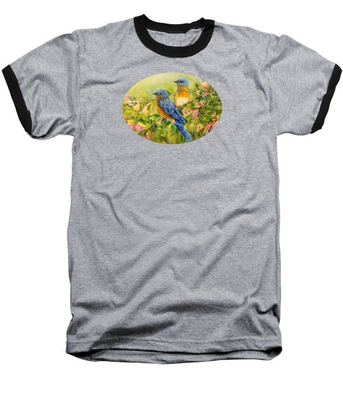 Bluebirds For T-shirts And Accessories Baseball T-Shirt by Loretta Luglio