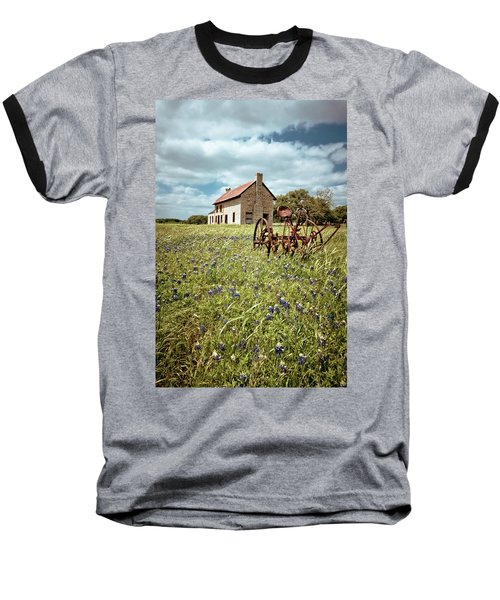 Baseball T-Shirt featuring the photograph Bluebonnet Fields by Linda Unger