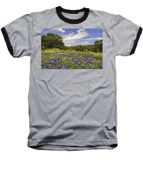 Bluebonnet Spring Baseball T-Shirt by Lynn Bauer