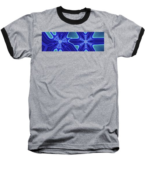 Baseball T-Shirt featuring the digital art Blued by Ron Bissett