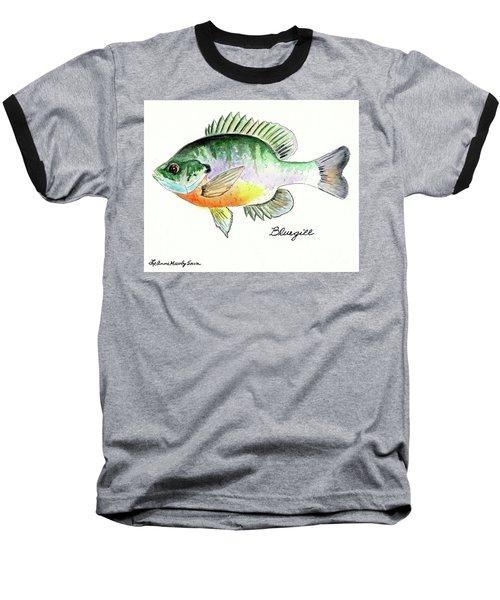 Bluegill Fish Baseball T-Shirt by LeAnne Sowa