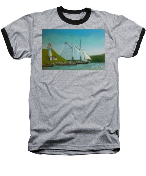 Bluenose Passing Georges Island Baseball T-Shirt by Rae  Smith