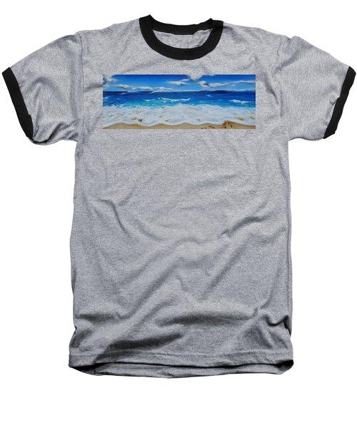 Blues And Foam Baseball T-Shirt