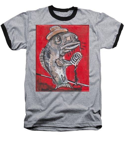Blues Cat Singer Baseball T-Shirt