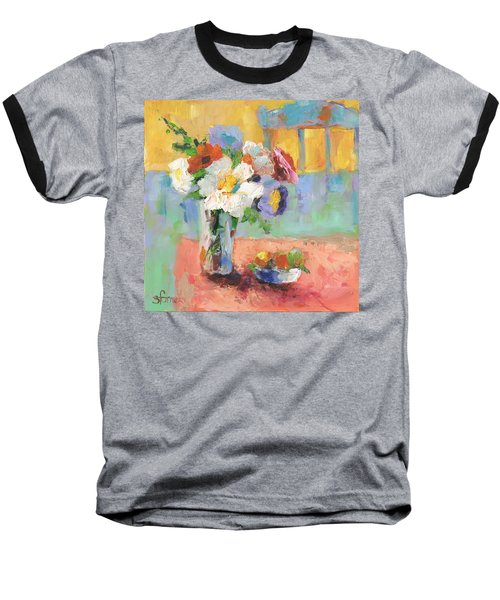 Blues Chair Baseball T-Shirt by Sharon Furner