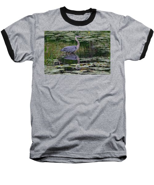 Blue's Image- Great Blue Heron Baseball T-Shirt