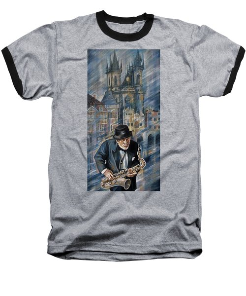 Blues Of Prague. Baseball T-Shirt