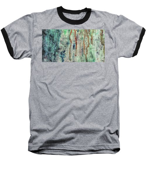 Standing In The Rain - Large Abstract Urban Style Painting Baseball T-Shirt