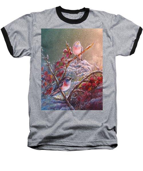 Bluethroat On The Tundra/ #3 Baseball T-Shirt