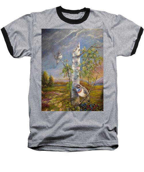 Bluethroat On The Tundra Baseball T-Shirt