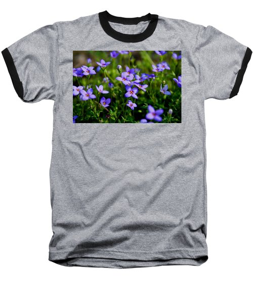 Baseball T-Shirt featuring the photograph Bluets by Kathryn Meyer