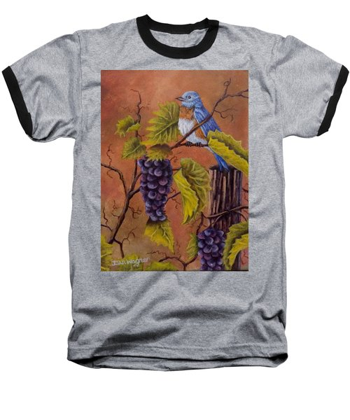 Bluey And The Grape Vine Baseball T-Shirt by Dan Wagner