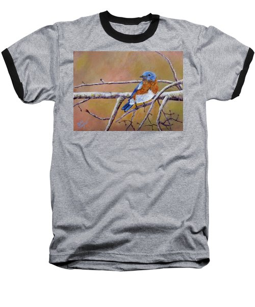 Baseball T-Shirt featuring the painting Bluey by Dan Wagner