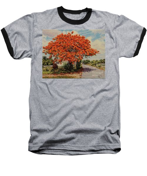 Bluff Poinciana Baseball T-Shirt
