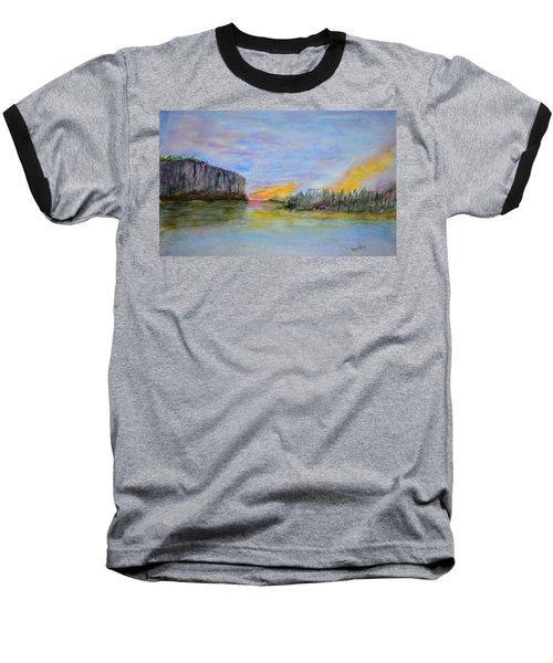 Bluffs At Sunset Baseball T-Shirt