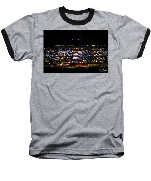 Baseball T-Shirt featuring the photograph Blurred City Lights  by Jingjits Photography