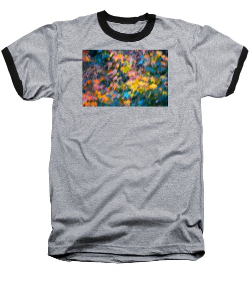Blurred Leaf Abstract 3 Baseball T-Shirt