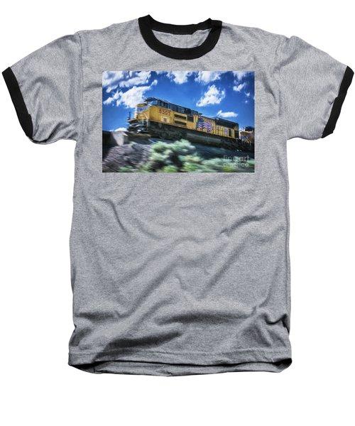 Blurred Rails Baseball T-Shirt
