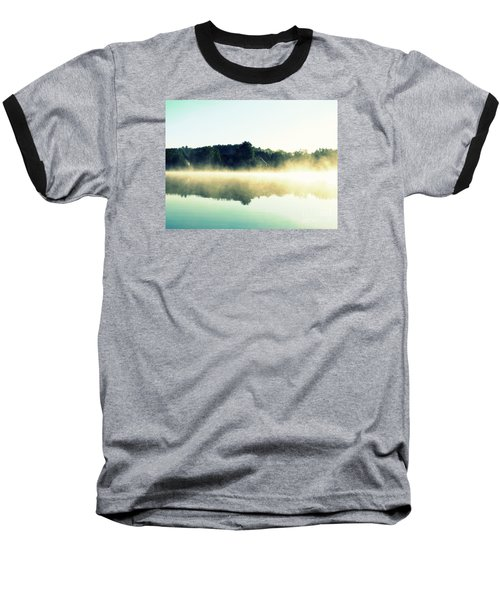 Blurry Morning Baseball T-Shirt by France Laliberte