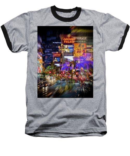 Blurry Vegas Nights Baseball T-Shirt