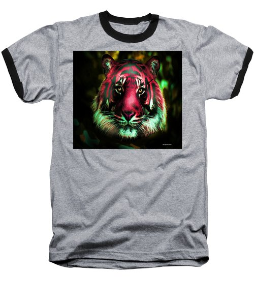 Baseball T-Shirt featuring the photograph Blushing Tiger by George Pedro