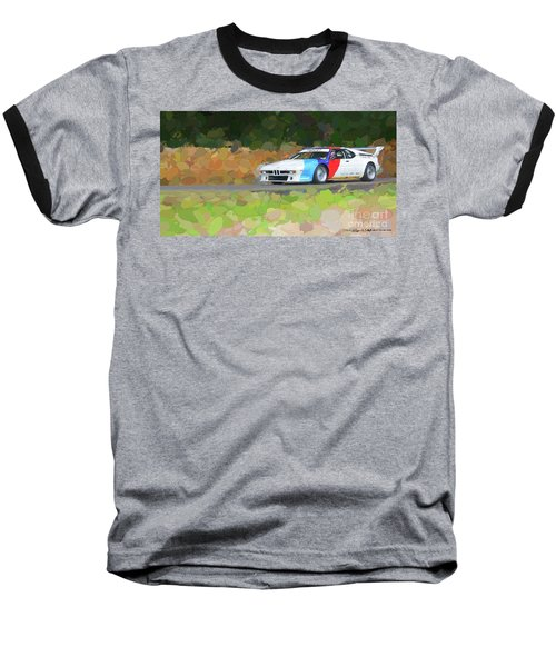 Bmw M1 Baseball T-Shirt by Roger Lighterness