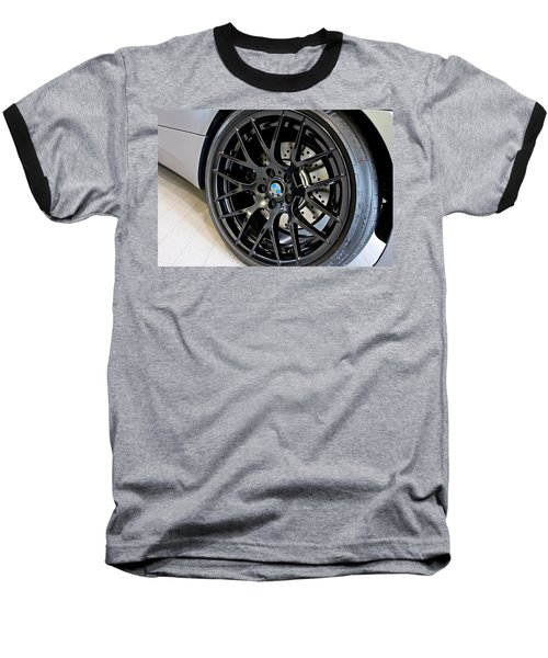 Bmw M3 Wheel Baseball T-Shirt by Aaron Berg