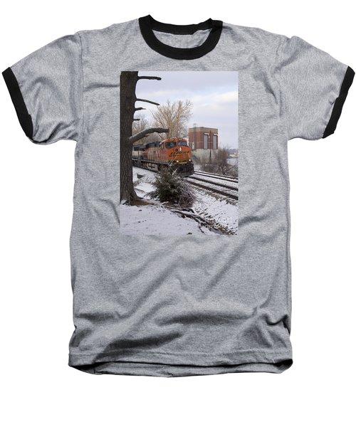 Bnsf 6338 - Train Photo Baseball T-Shirt
