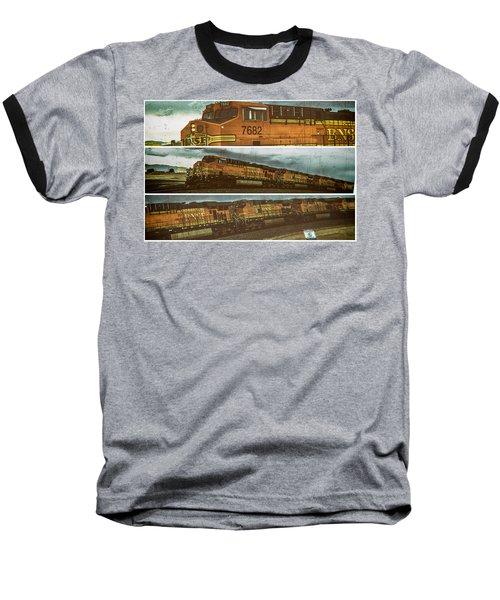 Bnsf 7682 Triptych  Baseball T-Shirt