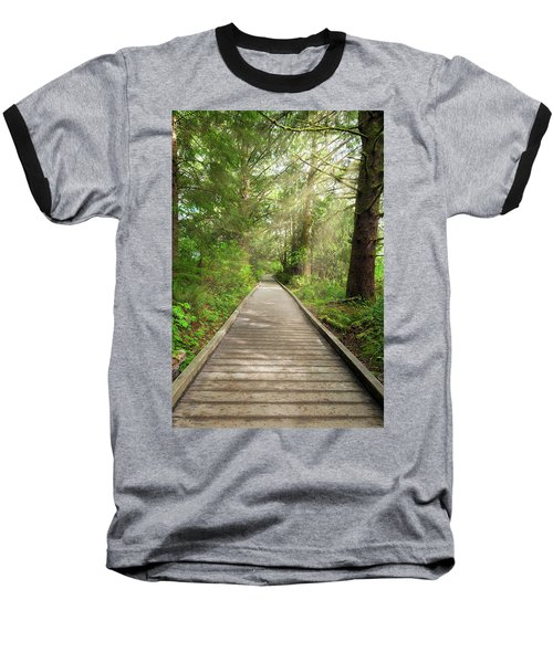 Boardwalk Along Hiking Trail At Fort Clatsop Baseball T-Shirt