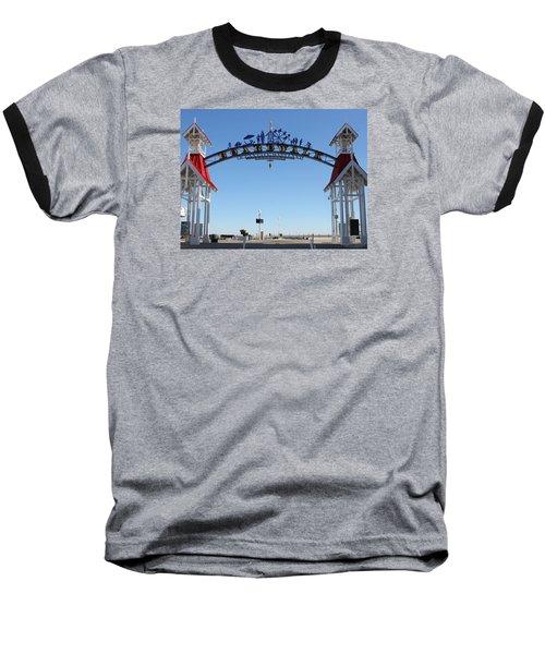 Boardwalk Arch At N Division St Baseball T-Shirt by Robert Banach