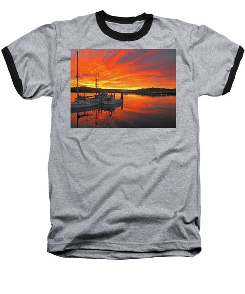 Baseball T-Shirt featuring the photograph Boardwalk Brilliance With Fish Ring by Suzy Piatt